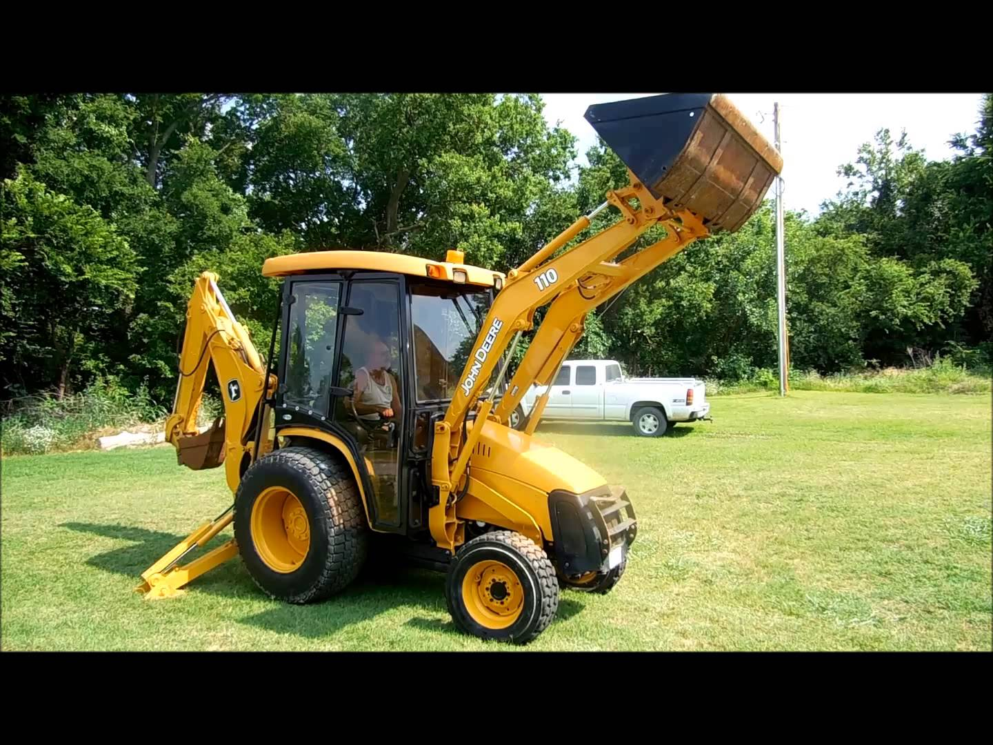 2005 John Deere 110 TLB tractor loader backhoe for sale | sold at ...
