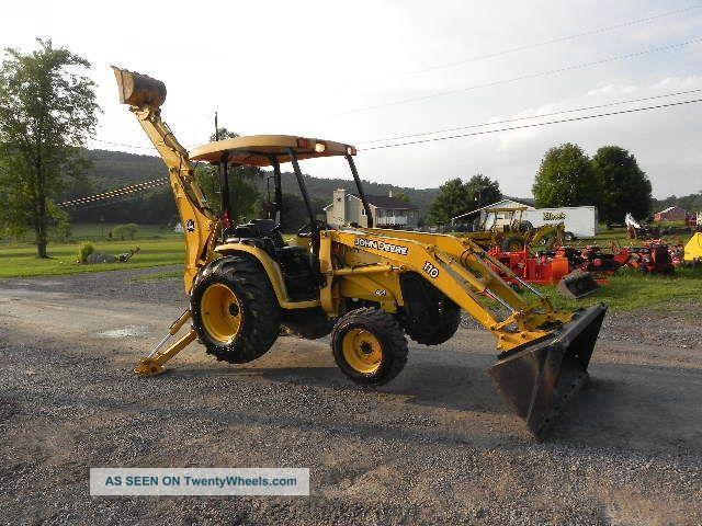 2006 John Deere 110 Tractor Loader Backhoe Tlb 4x4 540 Pto Yanmar ...
