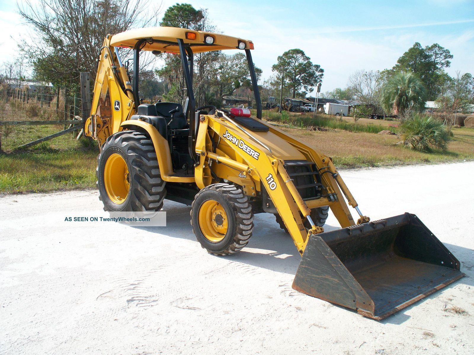 John Deere 110 4x4 Loader/backhoe W/rear Aux. Hyds. Backhoe Loaders ...