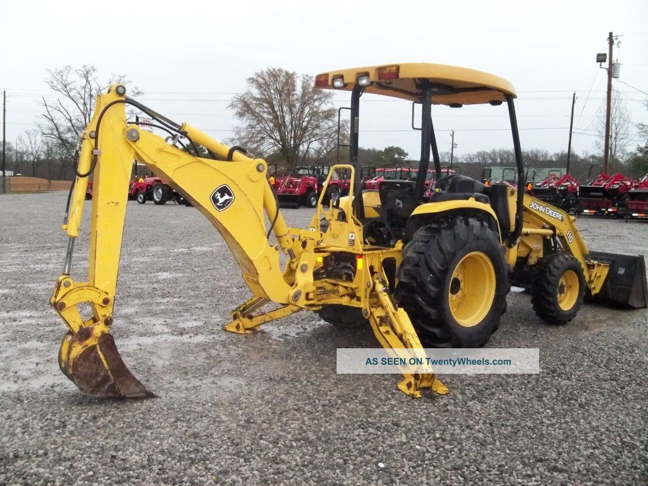 2006 John Deere 110 Tractor Loader Backhoe - Skid Steer Qa Bucket ...