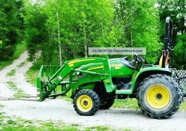 John Deere 3720 Compact Utility Tractor W/ Loader And Backhoe Tractors ...