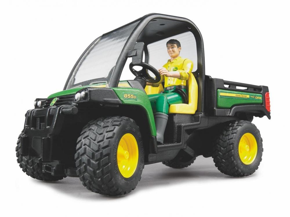Bruder 02490 John Deere Gator XUV 855D with Driver - Farm Toys Online