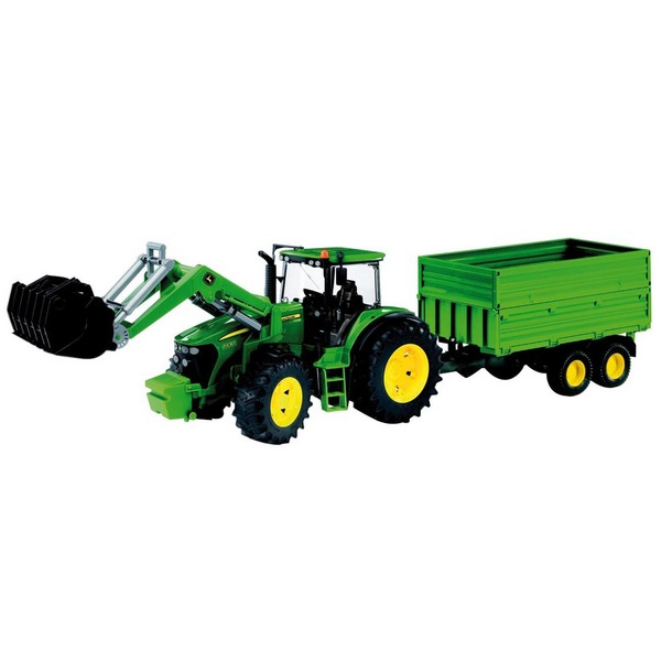 Bruder Toy 03055 John Deere 7930 with Front Loader & Tipping Trailer