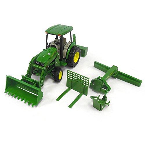 Big Farm John Deere 1:16 4066R Utility Tracor With Loader, Rear Blade ...