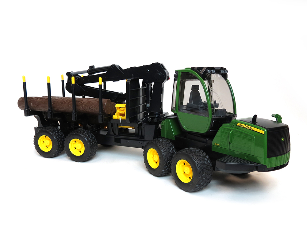 16th John Deere 1210E Log Forwarder w/ Logs by Bruder