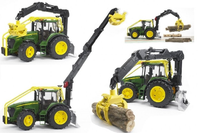 BRUDER Farmer - John Deere farm tractor with loader - Car | Alzashop ...