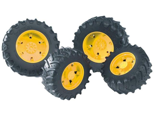 Twin Tires (Yellow Rims) for John Deere Tractor 7930 Vehicle Toy ...