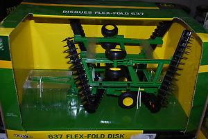 16 John Deere 637 Flex fold disk, folding wings by Ertl, NICE!, new ...