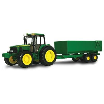John Deere Big Farm Tractor Wagon Toy Set 1/16 Scale TBEK46077