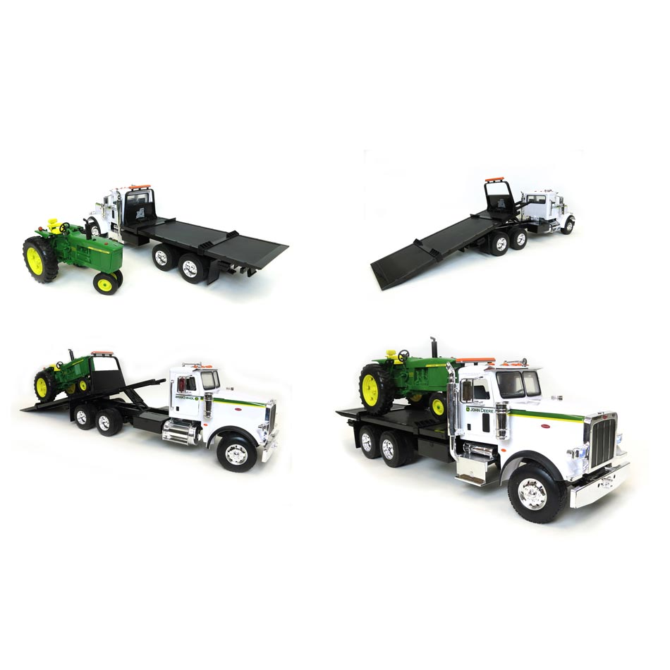 ... Big Farm 1/16 Peterbilt 367 Truck w/ Flatbed & John Deere Tractor Kids