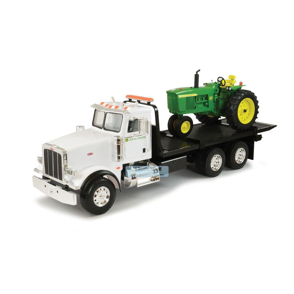 Tomy Big Farm 1/16 Peterbilt 367 Truck w/ Flatbed & John Deere Tractor ...