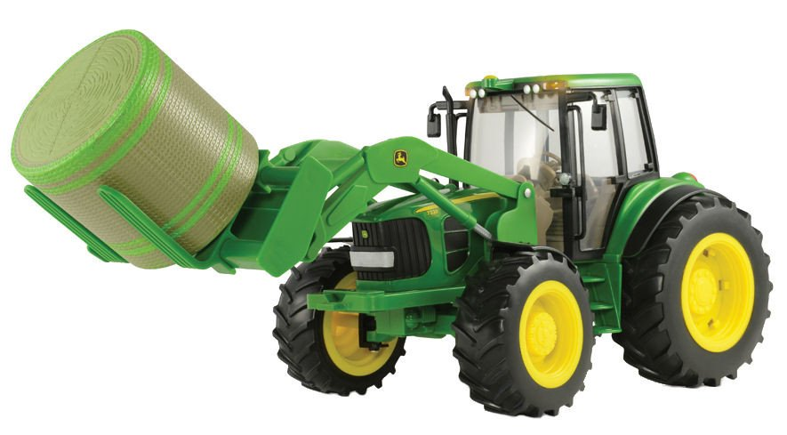 46380 1/16 John Deere 7330 Tractor with Bale Mover & Bale