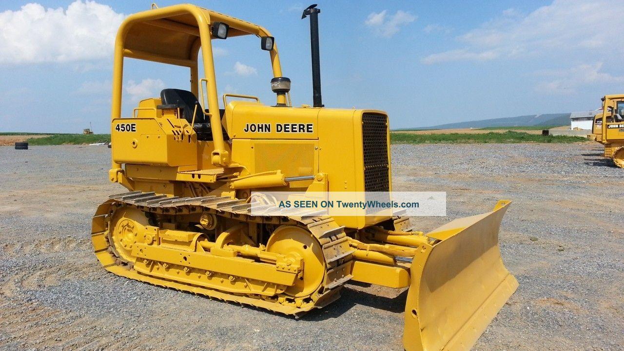1987 John Deere 450e Track Crawler Loader Construction Machine Tractor Bulldozer