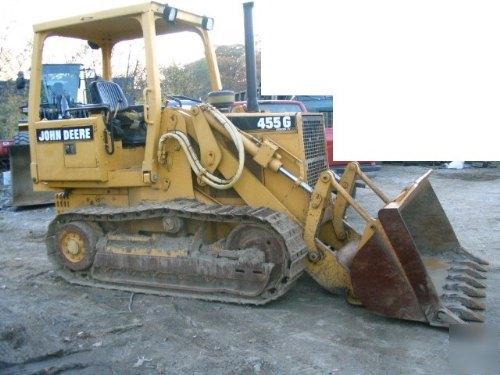 1995 john deere 455 g series 4 crawler loader dozer