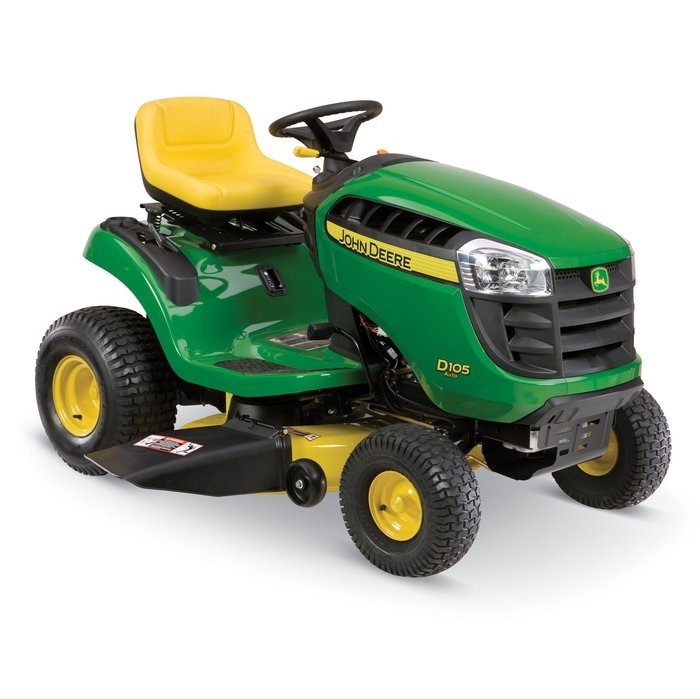 John Deere D105 17.5-HP Single-Cylinder Automatic 42-in Lawn Tractor ...