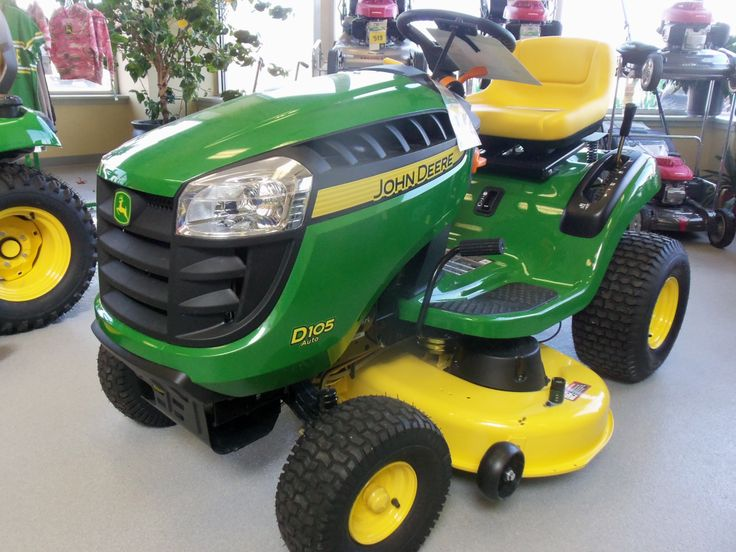 John Deere D105 with mower | John Deere equipment | Pinterest
