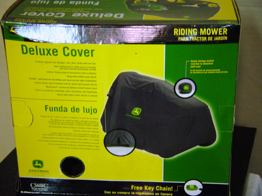 NEWIN THE BOX, JOHN DEERE DELUXE RIDING MOWER COVER