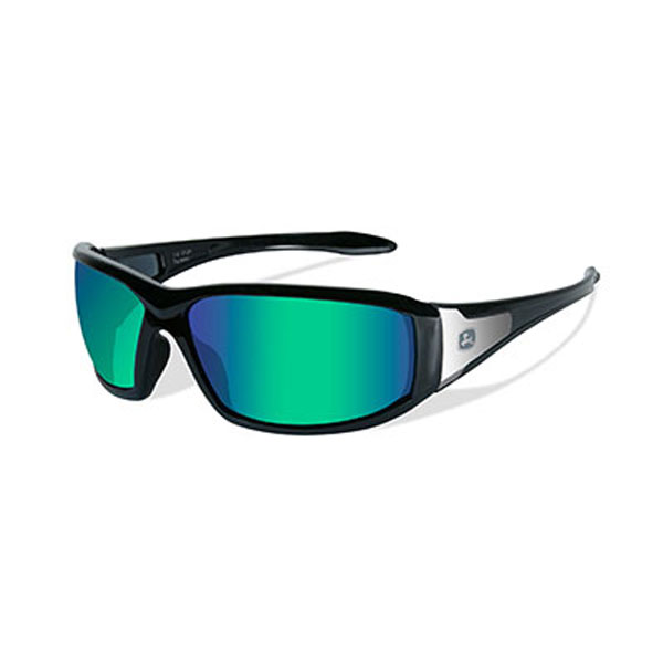 John Deere Wiley X Avert-X Safety Sunglasses Gray Black | RunGreen.com