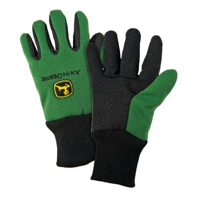 John Deere Cotton Jersey Youth Light-Duty Grip Gloves-JD00002/Y - The ...