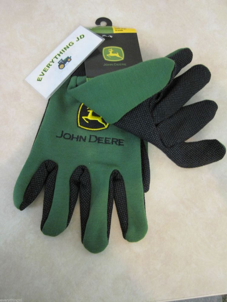 Mens John Deere Light Duty Cotton Grip Gloves (Green) - LP42385 | eBay
