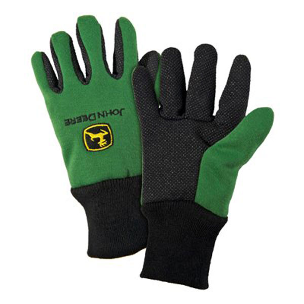 John Deere Youth Light-Duty Cotton Grip Glove - LP42386