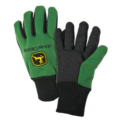 John Deere Cotton Jersey Large Light-Duty Grip Gloves-JD00002/L - The ...