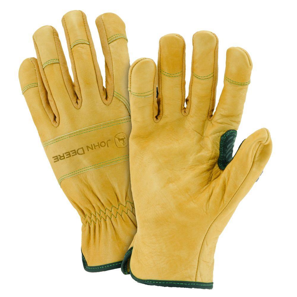 John Deere Grain Cowhide X-Large Driver Gloves-JD00007/XL - The Home ...
