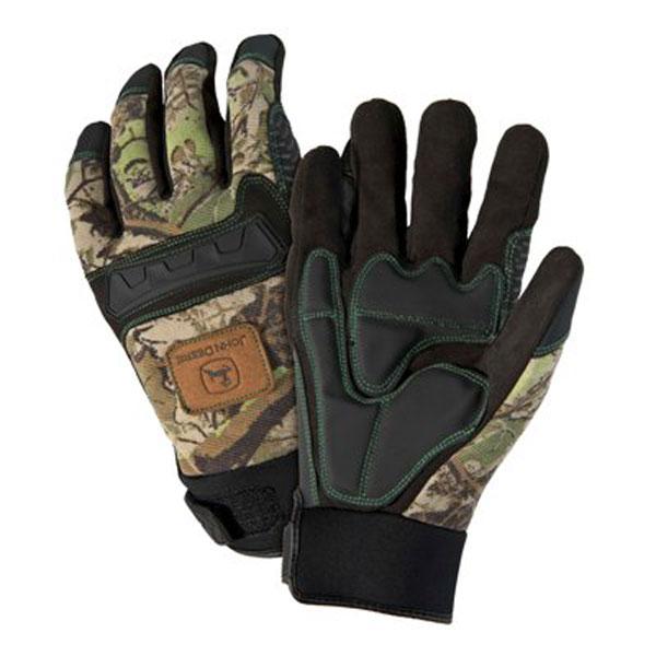 ... John Deere Work Gloves > John Deere Mens Anti-Vibration Camo Glove
