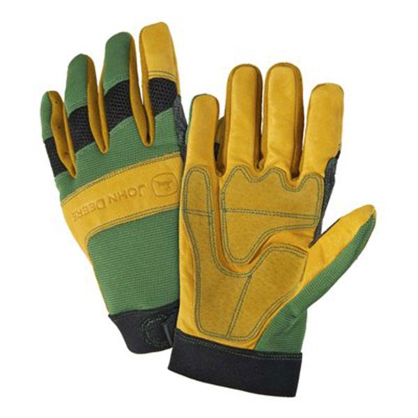 John Deere Mens Cowhide/Spandex Glove - LP42399 - LP42400 - LP47143