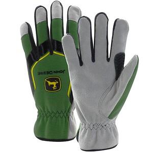 John Deere Men's Cowhide Glove with Spandex Back - LP67362 - LP67361 ...