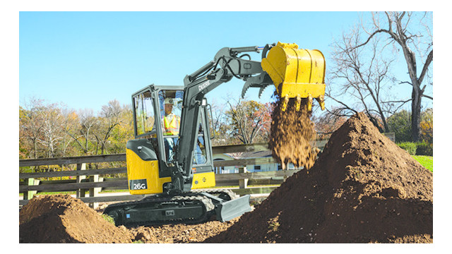 John Deere 17G and 26G Compact Excavators | ForConstructionPros.com