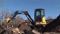 Compact Excavators in Action