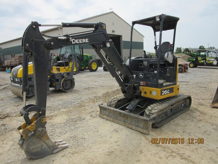 John Deere 26G #2.THis compact excavator was introduced in 2015 to ...