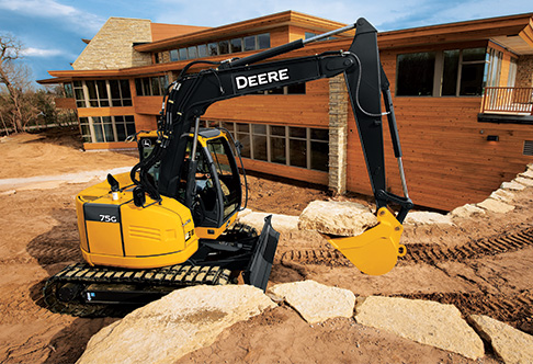 the john deere 75g and 85g excavators both feature reduced tail swing ...