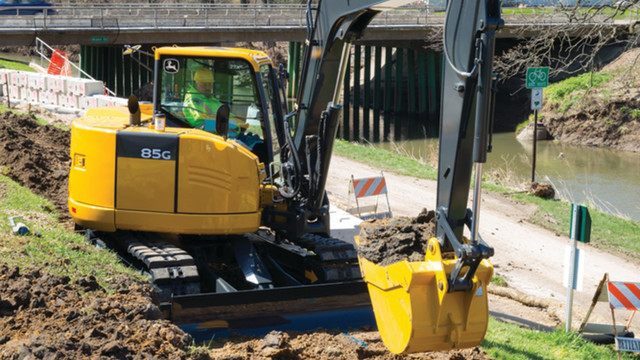 mini excavators 75g and 85g excavators from john deere