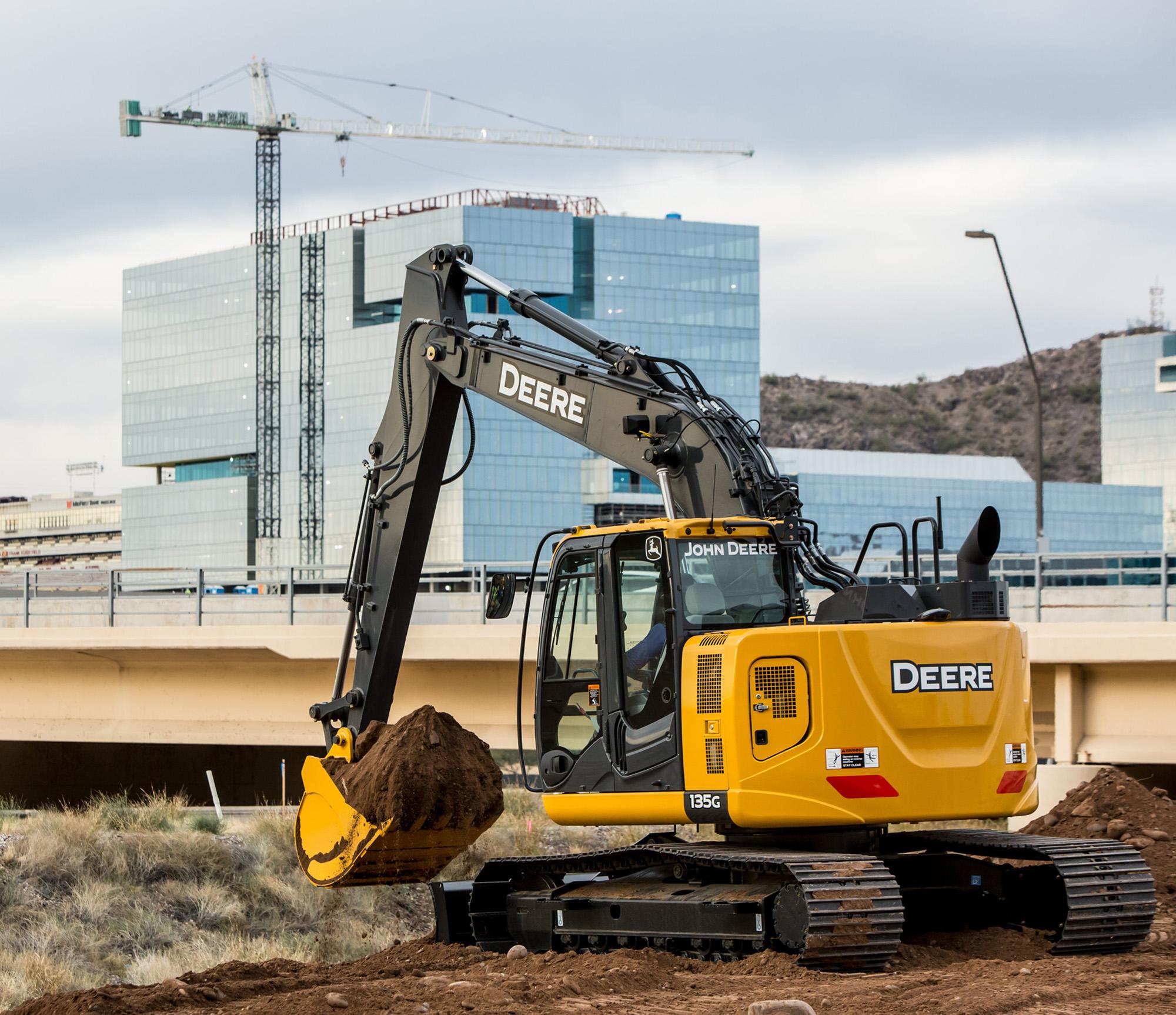 John Deere updates 135G, 245G LC excavators with engine, hydraulic ...