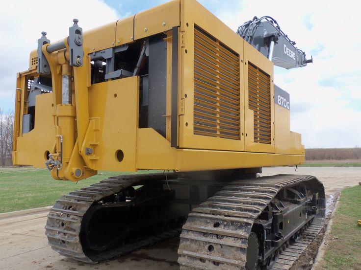 Rear of John Deere 870G LC excavator | JD construction equipment | Pi ...