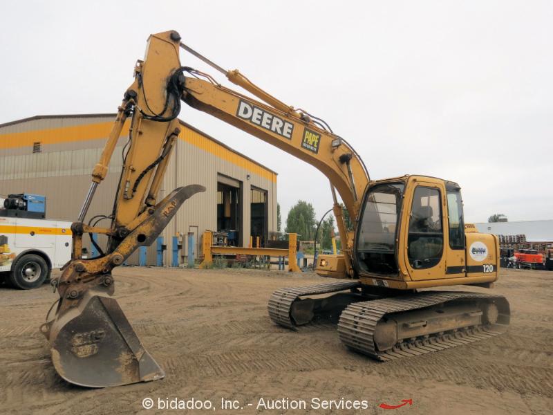 John Deere 120 Hydraulic Excavator Heated Cab Aux Hyd ...