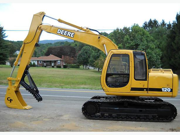 JOHN DEERE 120 TRACK EXCAVATOR VERY GOOD READY TO WORK ...