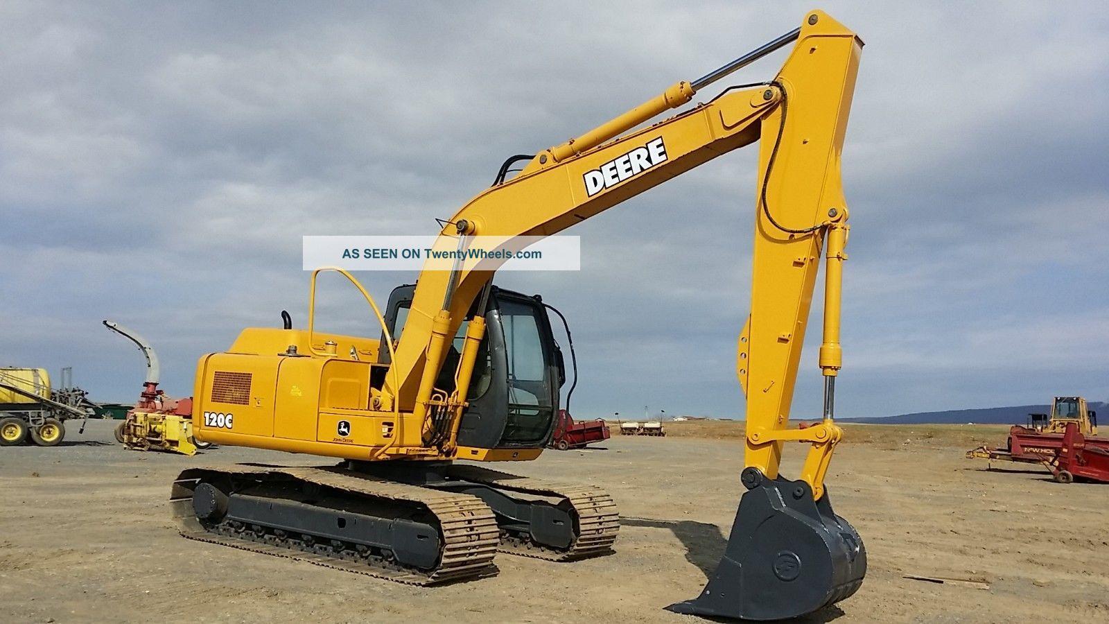 2004 John Deere 120c Excavator Construction Tractor ...