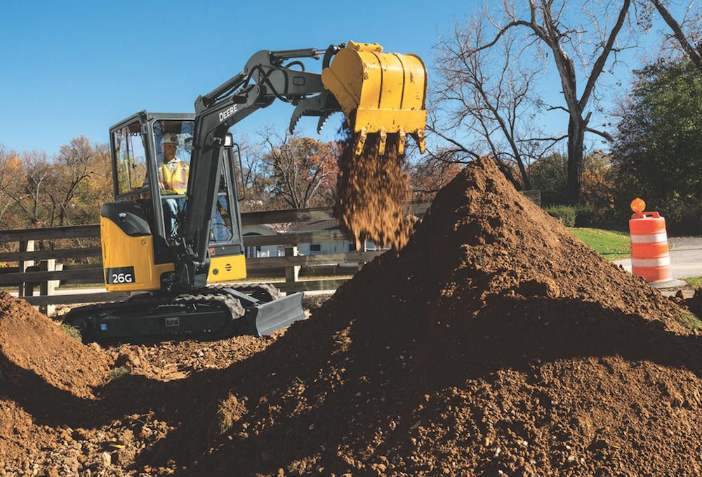 John Deere unveils 26G compact excavator: less weight ...