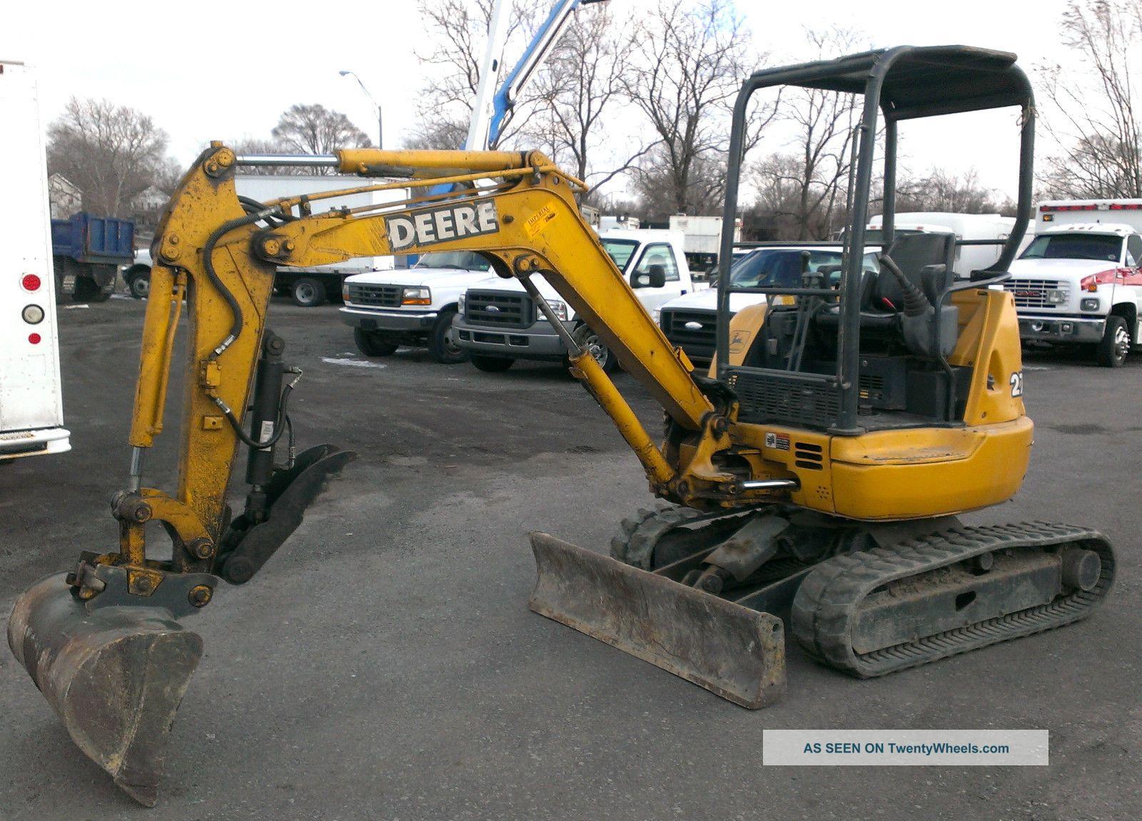 John Deere 27 - Zts Mini Excavator Thumb/clamp 3 Buckets ...