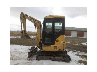 John Deere 27 ZTS Mini Excavator - Model - Excavators ...