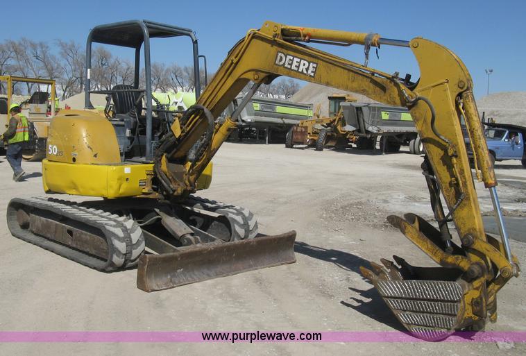 2000 John Deere 50 ZTS mini excavator | Item E3315 | SOLD ...