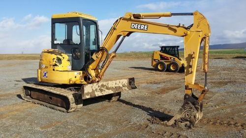 2000 John Deere 50 ZTS Mini Excavator Construction Crawler ...