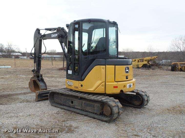 2011 John Deere 50D compact excavator For Sale, 3,727 ...