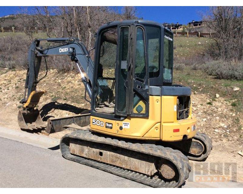 2007 John Deere 50D Mini Excavator For Sale - Pleasanton ...