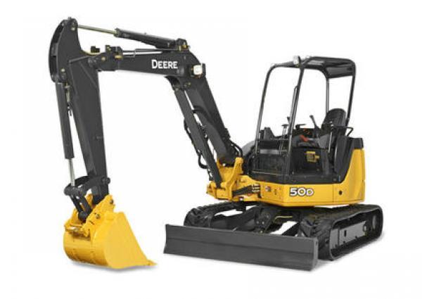 John Deere 50D Mini Excavator Rental & Rates
