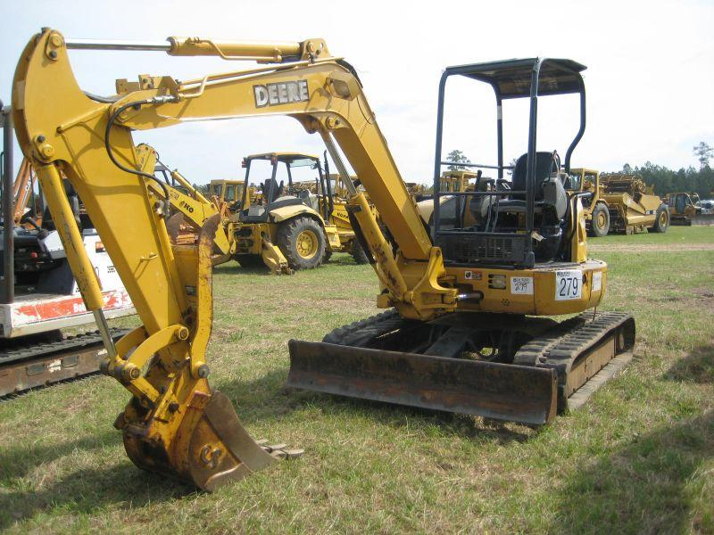 JOHN DEERE 50C ZTS MINI EXCAVATOR - J.M. Wood Auction ...