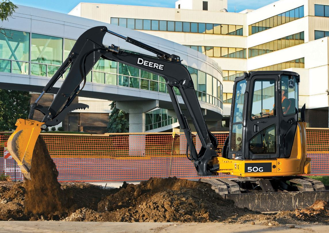 USA: John Deere Introduces 50G and 60G Excavators ...